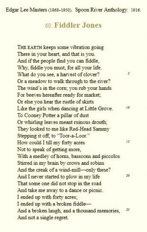 Fiddler Jones - Edgar Lee Masters