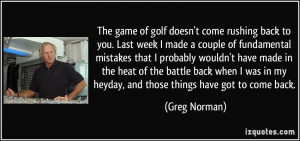 More Greg Norman Quotes