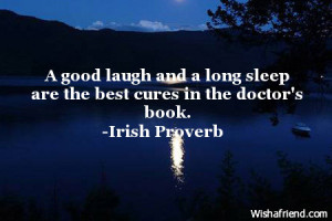 good-night-quotes-A good laugh and a long sleep are the best cures in ...