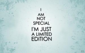 am not Special Quote Wallpaper HD