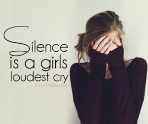 cry, girl, pain, quotations, quotes, sad, silence