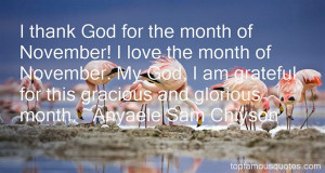 November Month Quotes