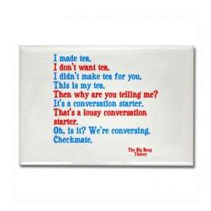 Bang Theory Gifts > Big Bang Theory Magnets > Big Bang Theory quotes ...