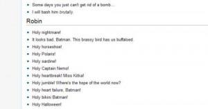 ... :Robins best quotes from the Batman movie (1966).HOLY BIKINI BATMAN