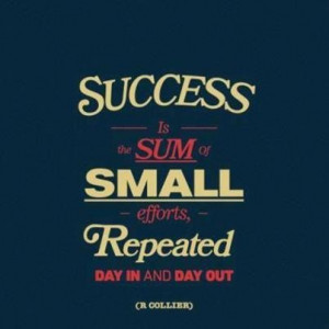 Consistency leads to Success