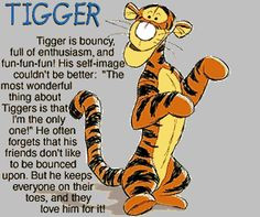 TIGGER Vinyl Wall Quote Decal Winnie the Pooh BOUNCE