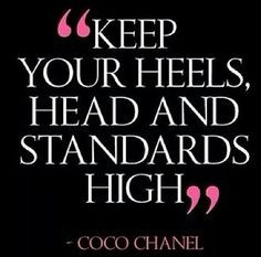 Coco Chanel, Standards High, Dust Jackets, Quotes, Heels, Dust Covers ...
