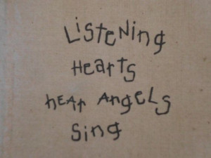 ... Listening Hearts Hear Angels Sing Quote by ElegantSeashore, $17.99