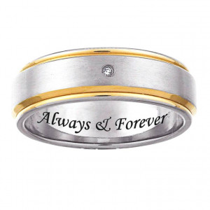 Photo Gallery of The Wedding Ring Engraving Quotes