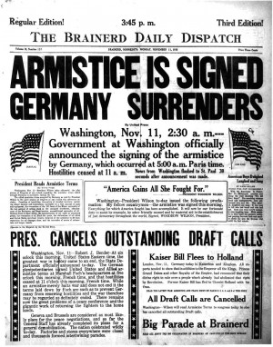 When the Armistice was declared on November 11th, a German delegate at ...