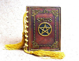 Barbie 's First Spellbook TM : Comes with its very own athame!