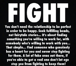 Fight when your Relationship is worth it!
