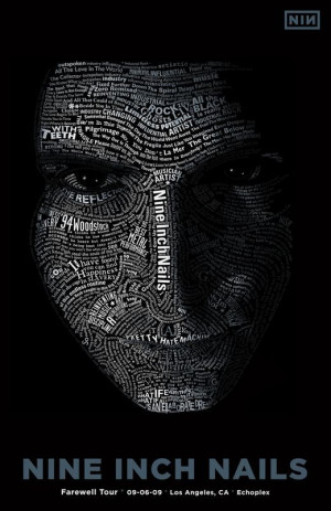 Typographic portrait Trent Reznor #NIN