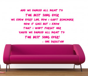 WALL STICKERS | 1D ONE DIRECTION LYRICS WALL STICKERS
