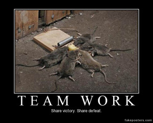 Team Work - Demotivational Poster