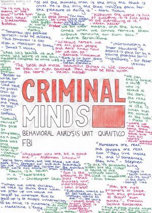 CRIMINAL MINDS Quotes by becksbeck