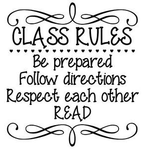 CLASS-RULES-Vinyl-Wall-Art-Decal-Wall-Lettering-Quote-Words-Classroom ...