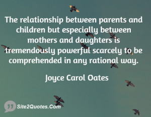 The relationship between parents and children but especially between ...