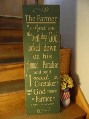 ... Paul Harvey 12x36 handmade wood sign, primitive country signs, quotes
