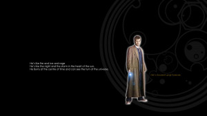 Doctor Who Tenth Doctor wallpaper with Tim Latimer quote