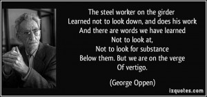 George Oppen Quote