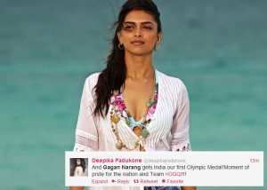 Deepika Padukone : And Gagan Narang gets India our first Olympic Medal ...