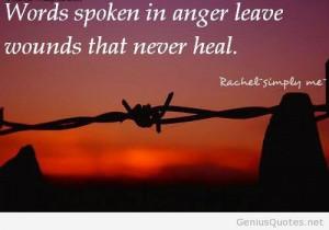 Anger spoken words quote