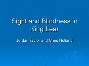 blindness in king lear thesis