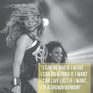 Beyonce Lesson #4: You can be bad if you want...you're a grown woman!