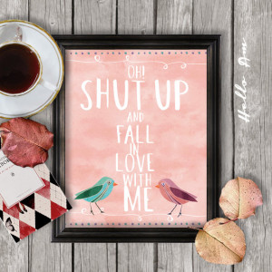 Love quote print, printable love quote, wall decor, framed love quote ...
