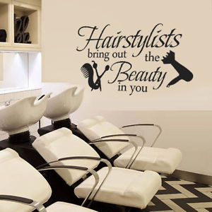 Christmas-Wall-Decal-hairstylist-hair-dryer-Comb-Quote-Vinyl-Salon ...