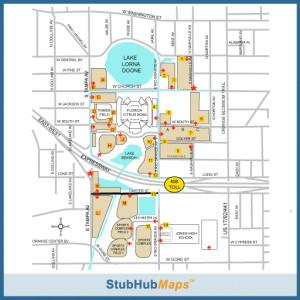 stubhub 603838 Florida Citrus Bowl Parking Lots Parking png
