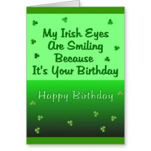 Irish Eyes Birthday Greeting Cards