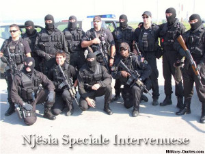 Albanian special forces with US special forces