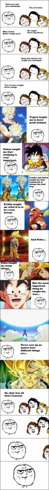 Funny photos funny Dragon Ball Z rage comic faces