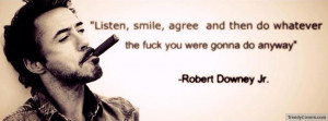 Robert Downey Jr Facebook Cover