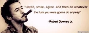 Robert Downey Jr Facebook Cover