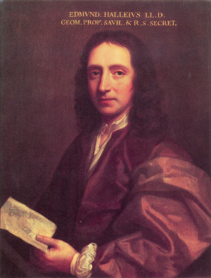 ... Halley painted around 1687 by Thomas Murray (Royal Society, London
