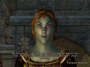 Typical Dark Elf Female.