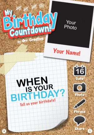 Birthday Countdown Paper Chain
