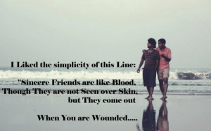 Sincere friends are like blood sayings image quotes