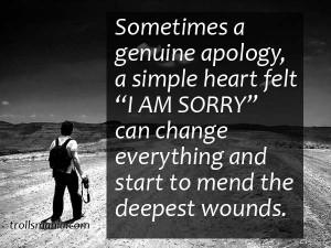 Sometimes A Genuine Apology A Simple Heart Felt I Am Sorry