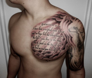 Download HERE >> Religious Chest Tattoo Designs With Quotes
