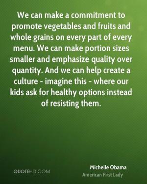 Michelle Obama Health Quotes