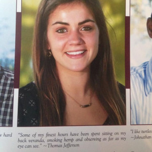 2014 senior quote by US Founding Father