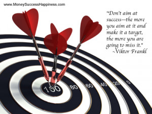 Dart board with success quote