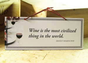 Wall Sign with Wine Quote in White Black and Red. by AbeloClocks, $14 ...
