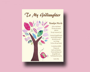 Goddaughter - Personalized gift for Goddaughter - Gift from Godmother ...