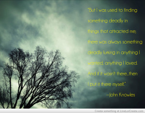 John Knowles A Separate Peace Quote