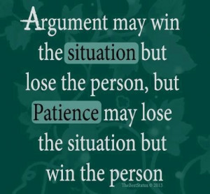Have patience...